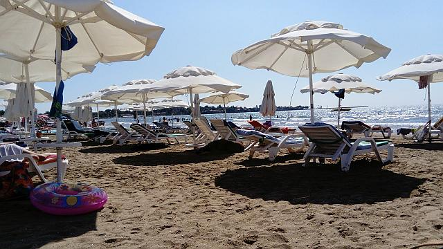 am Hotel-Strand in Side/Manavgat